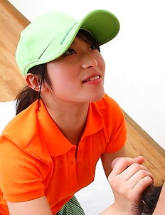 Golf girls Nana and Nao punished