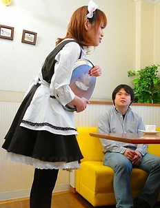 Yui Shimizu gets pleased at work